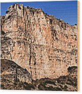 Red Cliffs Blue Sky Wood Print