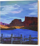 Red Cliffs On The Colorado Wood Print
