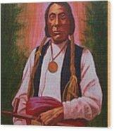 Red Cloud Oglala Lakota Chief Wood Print