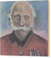 Red Coat Wood Print