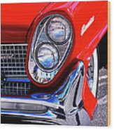 Red Hot Continental Palm Springs Wood Print
