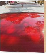 Red Convertible Wood Print