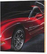 1997 Red Corvette Wood Print