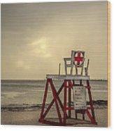 Red Cross Lifeguard Wood Print