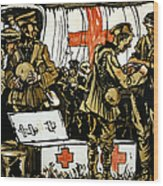 Red Cross Poster, 1915 Wood Print