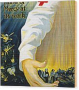 Red Cross Poster, 1918 Wood Print
