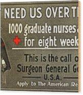 Red Cross Poster, C1914 Wood Print