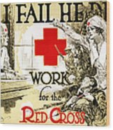 Red Cross Poster, C1918 Wood Print