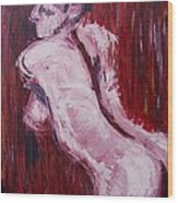 Red Curtains - Nudes Gallery Wood Print