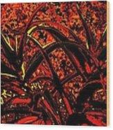 Red Dancers Wood Print