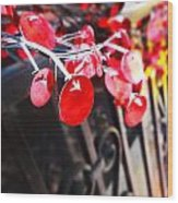 Red Decorations Wood Print