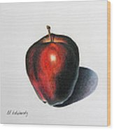 Red Delicious Apple Wood Print