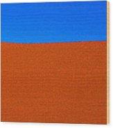 Red Desert Blue Sky Wood Print