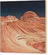 Red Desert Swirls Wood Print