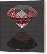 Red Diamond Ruby Wood Print