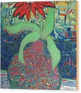 Red Diasy Wood Print