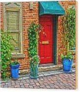 Red Door 5 Wood Print by Baywest Imaging