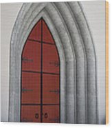 Red Door At Our Lady Of The Atonement Wood Print