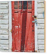 Red Door By Diana Sainz Wood Print by Diana Sainz