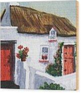 Red Door Cottage Like Maggies Wood Print