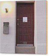 Red Doors Of Tucson Wood Print