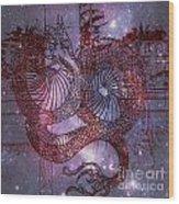 Red Dragon 2 Wood Print