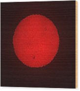 Red Dwarf Star Wood Print
