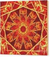 Red Dynasty Wood Print