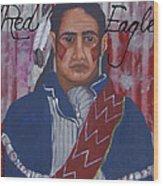 Red Eagle Wood Print