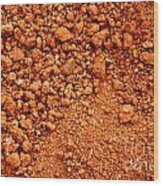 Red Earth Or Soil Background Wood Print