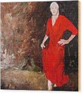Red Ellegance Wood Print