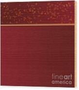 Red Elm Leaves Wood Print