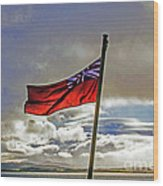 Red Ensign Wood Print