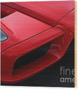 Red Enzo Wood Print