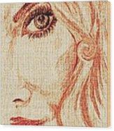 Red Eyes.  Wood Print
