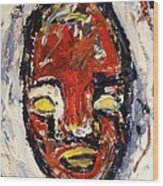 Red Face Red Mine Wood Print