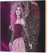 Red Fairy Wood Print