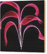 Red Flaring Plant Wood Print