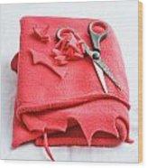 Red Fleece Wood Print