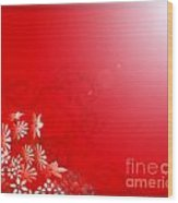 Red Floral Dream Wood Print