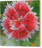 Red Flower Macro Wood Print
