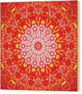 Red Flower Wood Print