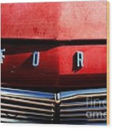 Red Ford 1 Wood Print