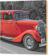 Red Ford 3d21740 Wood Print