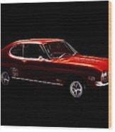 Red Ford Capri Wood Print