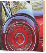 Red Ford Tailight Wood Print