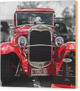 Red Ford Ute Wood Print