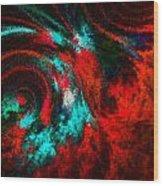 Red Fury Wood Print