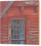 Red Gable Window Wood Print