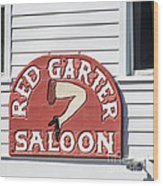 Red Garter Key West - Square Wood Print